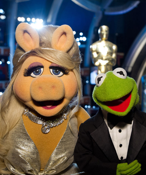 Kermit and Ms Piggy at the Oscars