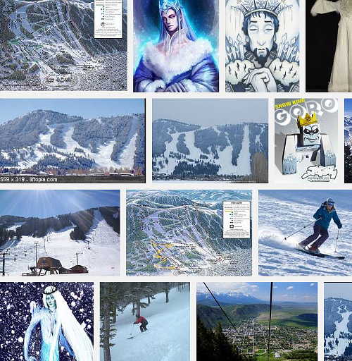 Google Image search for snow king
